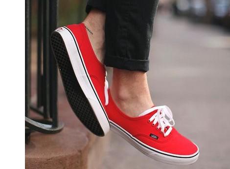 look vans rouge