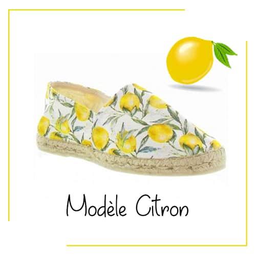 Cadre Espadrille Citron