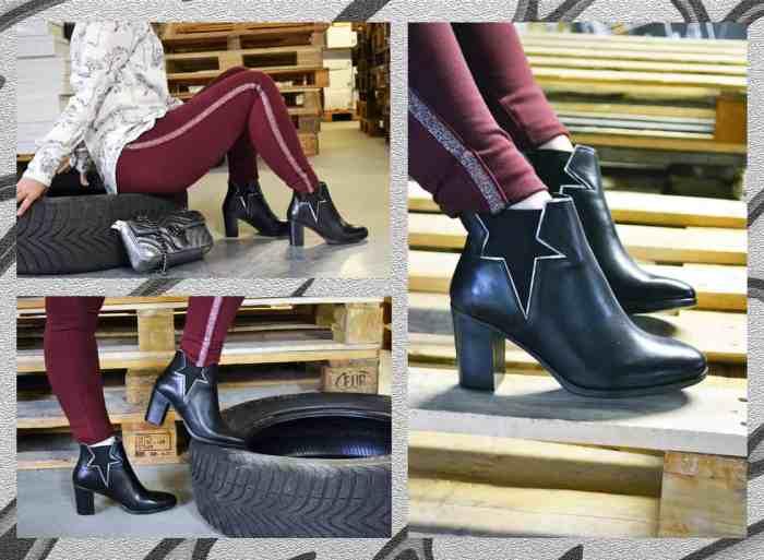 Chaussuresonline-bottines-noir-rock-look-ootd-tendance-automne-talons-étoiles-Reqins-cecile