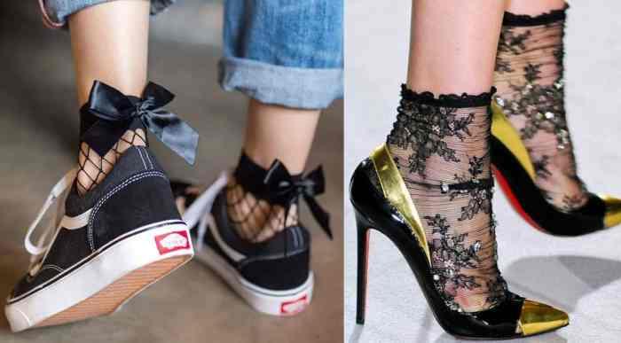 Chaussuresonline-chaussures-chaussettes-dentelle-résille-baskets-escarpins-tendance-noeud