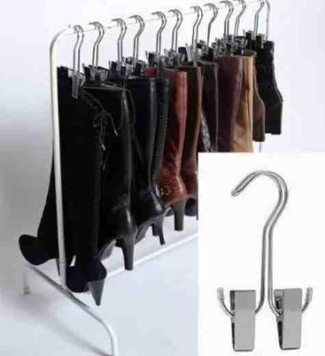 chaussursonline-astuce-cintres-rangement-chaussure-rangementschaussures-idée-DYI
