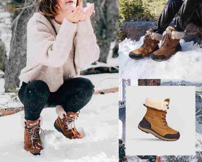 chaussuresonline-uggaustralia-idée-look-cuir-neige-froid-adirondack3-fourrure-mouton-camel-noir