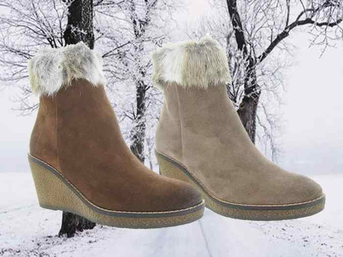 Chaussuresonline-manas-bottines-talonscompensés-taupe-maron-noir-tendance-idéelook-chaussures-hiver-fourrure-neiige-froid
