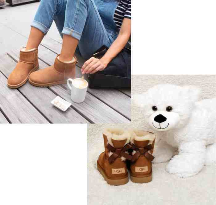ChaussuresOnline-marque-femmeenceinte-cocooning-bottes-bottinesfourrées-uggaustralia-classicmini-classicminibaileybow-noeud-femmeètendance-mode-confort-hiver-froid
