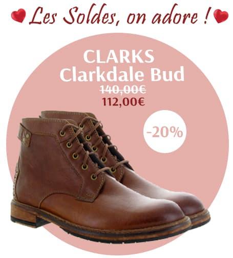 Chaussuresonline-article-blog-chaussureshommes-tendance-mode-clarks-clarkdalebud-marrongold-idéelook-soldeshiver2019-promotion-réduction