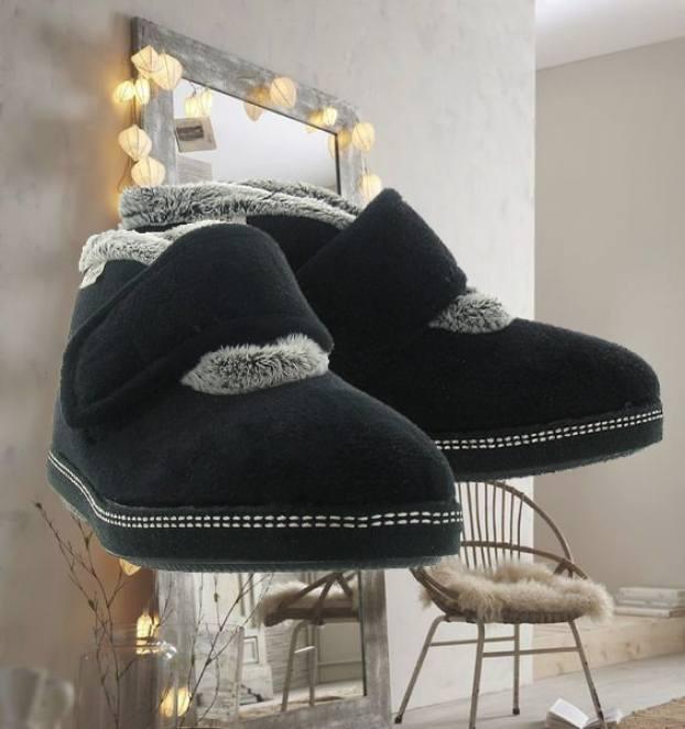 Chaussuresonline-chaussons-pantoufles-lamaisondel'espadrille-noir-fourrés-cocooning-6830-femme-hiver-froid