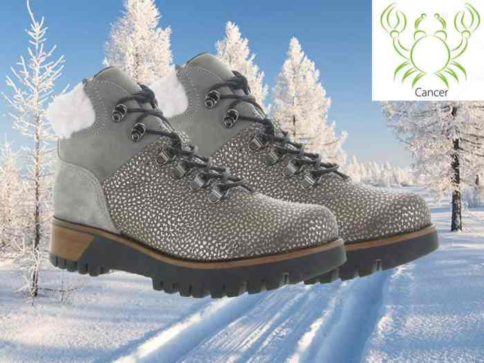 horoscope'shoes-femme-chaussures-manas-beauté-mode-tendance-glamour-cancer-chaussures-hiver-neige-froid-montagne