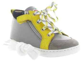Chaussuresonline-enfant-chaussuresbébégarçon-marron-jaune-shoopom-boubabizipboy-tendance-mode-style