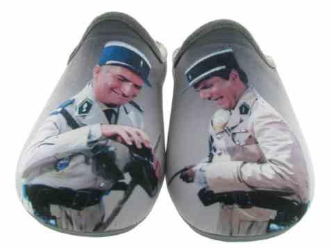 chaussuresonline-homme-fetesdesperes2019-tendance-cool-confort-mode-ideecadeau-chaussons-lasoupeauxchoux-louisdefunes-lesgendarmes-lamaisondelespadrille-humour