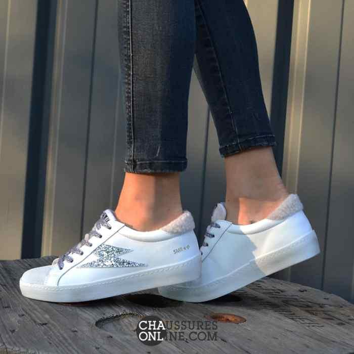 Nouveau modèle de baskets Semerdjian Ruby 377 ! On adore la moumoute : l'atout charme de cette sneaker!