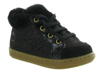 shoo pom pour enfants filles  bouba zip hair noir - chaussuresonline