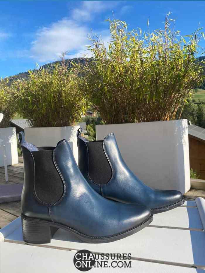 bottines bleues Pinto Di blue sur ChaussuresOnline.com