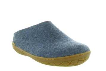 chausson glerups homme feutre bleu jeans