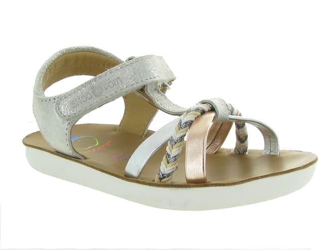 Sandales Shoo Pom pour fille argent - modèle Goa Salome sur ChaussuresOnline.com