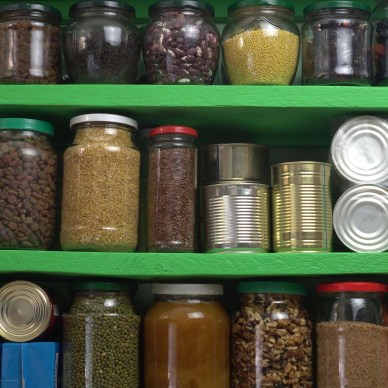 Food Storage on Shelves