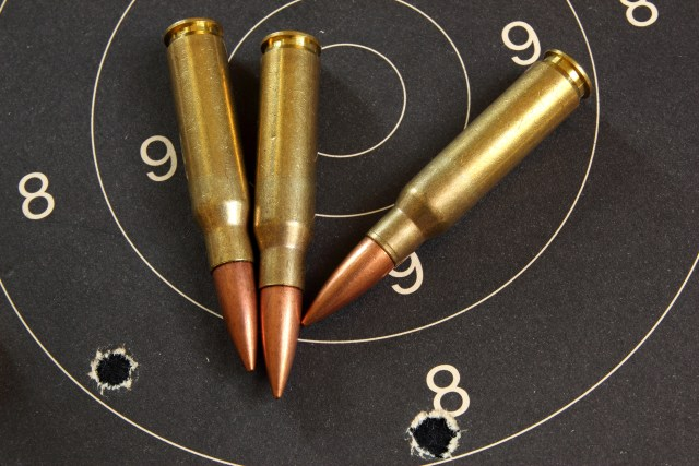 .308 Winchester Cartridges on Target