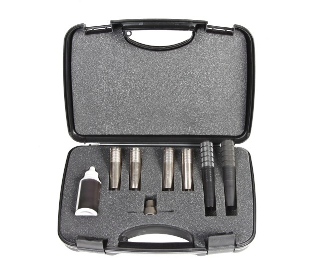 case with Choke Tubes for sportive or hunting gun