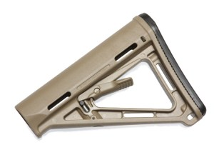 Desert Tan Magpol MOE adjustable AR-15 stock