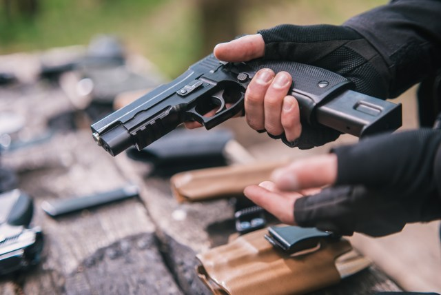 instructor in sport shooting to test your handguns in nature