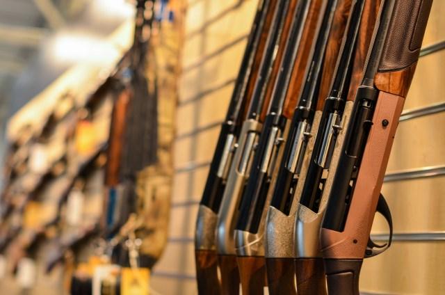 shotguns on rack