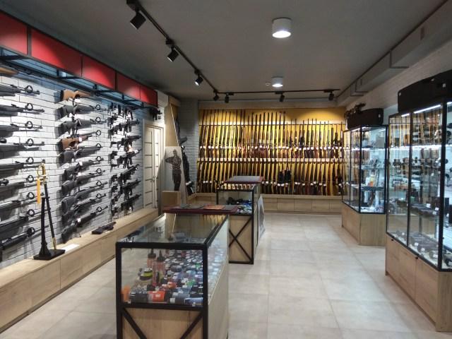 Gun store showroom
