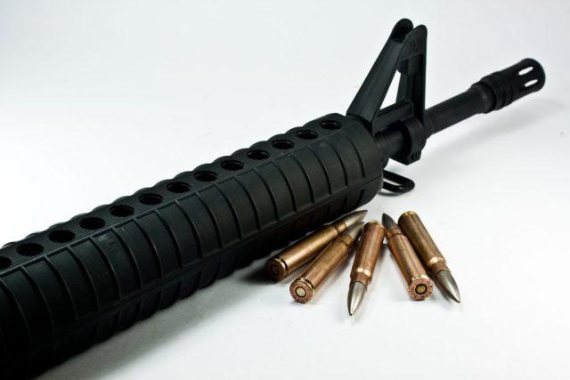 M16 barrel, handguard and front sight post