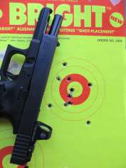 Glock G17 MOS with Delta Point sight and with Bright target