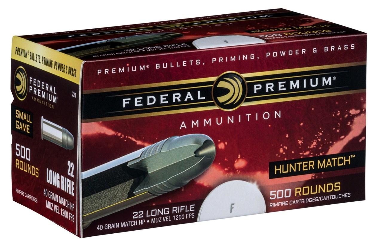Hunter Match 22 Long Rifle ammunition box