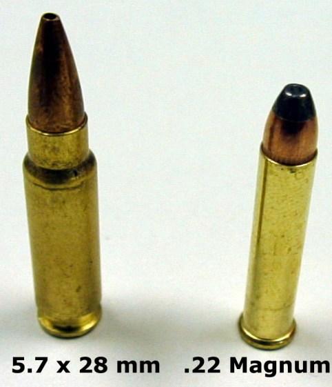 5.7x28 and .22 Magnum comparison