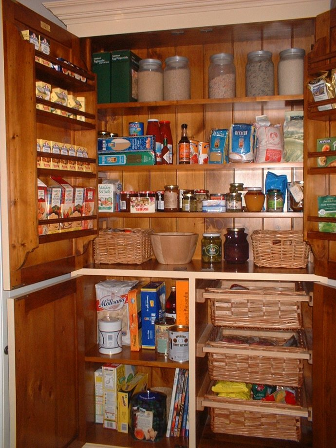 Store a variety of grains, cans and freeze-dried items.