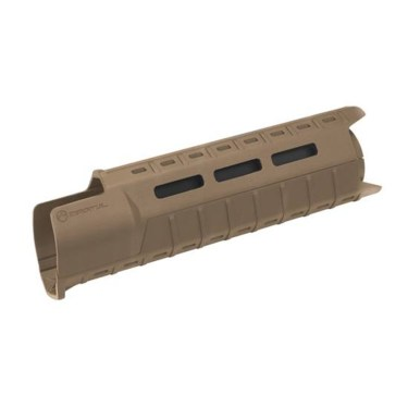 Picture shows a handguard for an AR-15 made by Magpul in flat dark earth color.