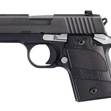 All black SIG P938 9mm subcompact handgun
