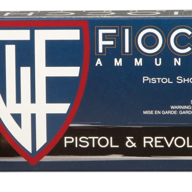 blue box of .45 ACP ammo made by Fiocchi
