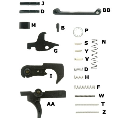 AR-15 Lower Build Parts Diagram