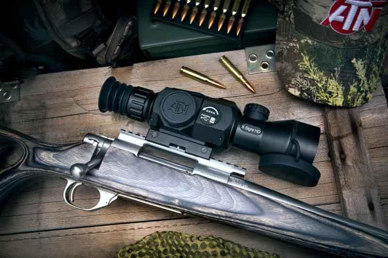 ATN X-Sight II scope on a rifle