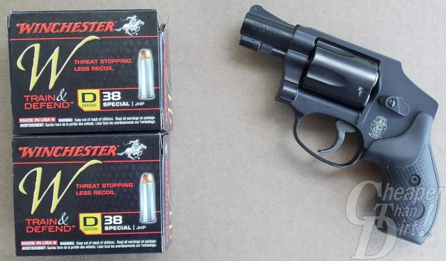 Lightweight aluminum-framed handgun .38 and Ammunition