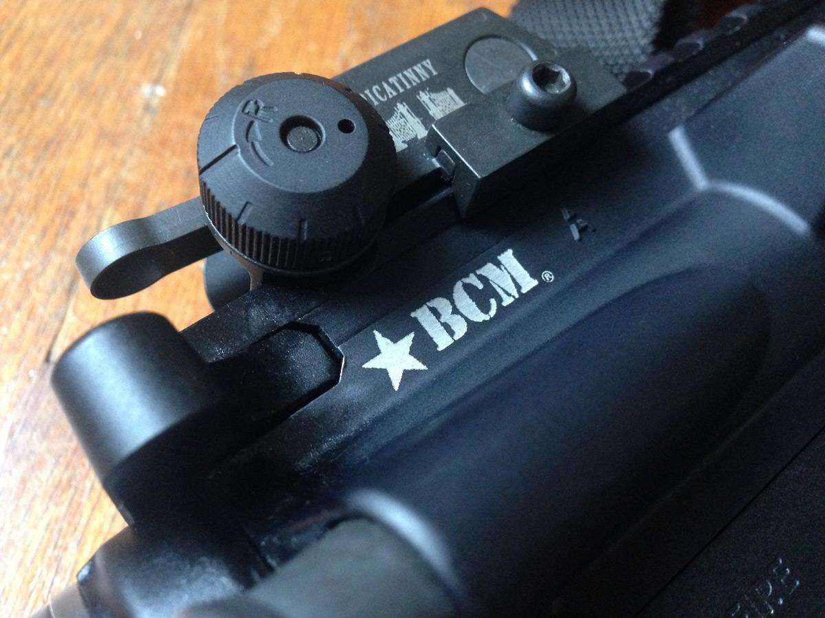 Close up of BCM AR-15 receiver