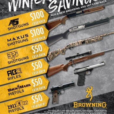 Browning Rebate flyer