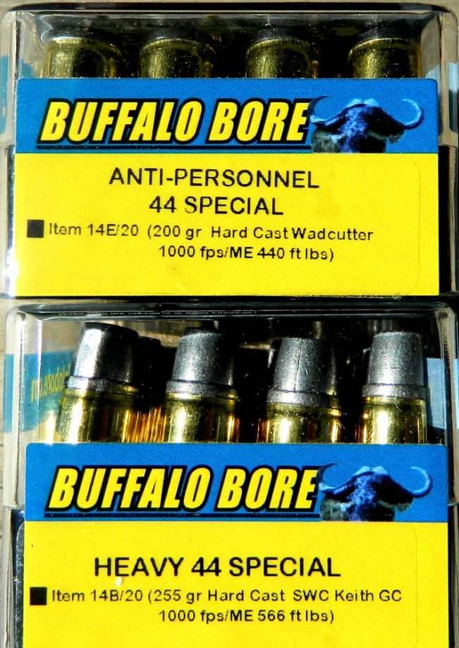 Two boxes of Buffalo Bore Ammunition