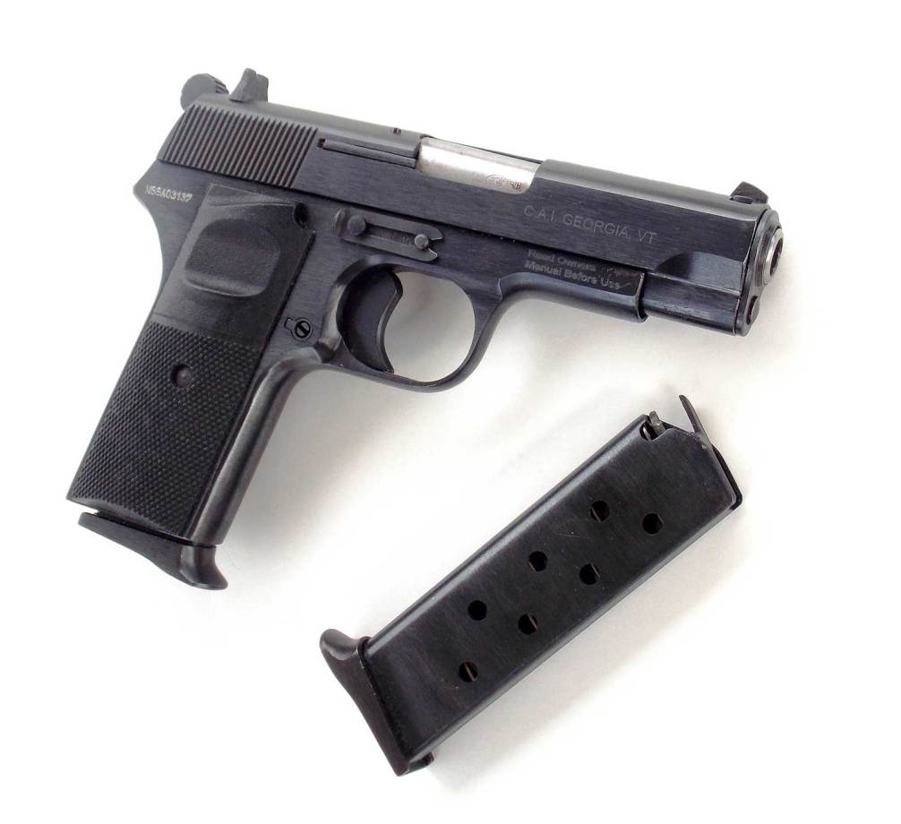 CIA Zastava M88 pistol right side and magazine