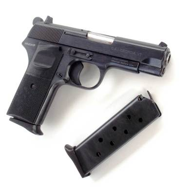 CIA Zastava M88 pistol right side and magazine