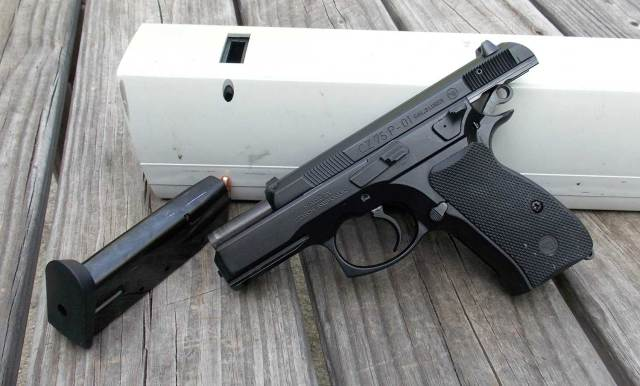 CZ 75 P-01 with slide locked back