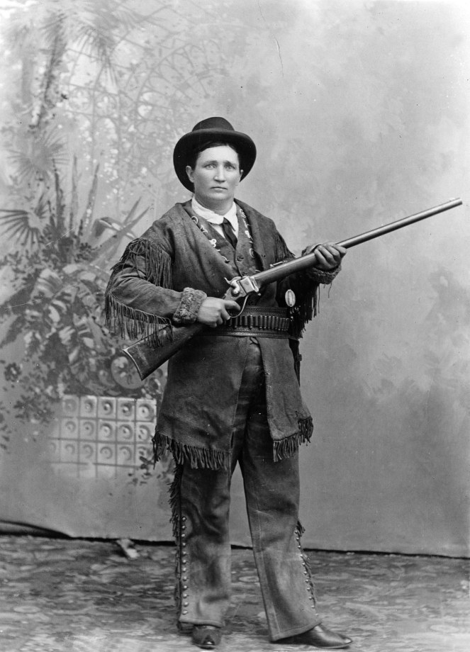 Calamity Jane once tried to use a picture of herself to pay a bar tab.