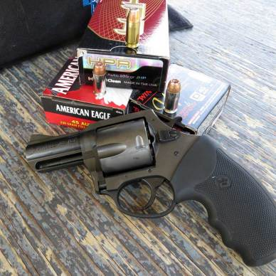 Charter Arms Pitbull revolver with American Eagle ammunition
