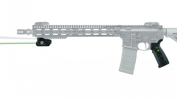 Crimson Trace LiNQ mounted on a ghosted AR-15