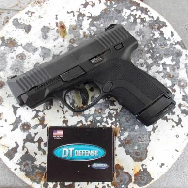 Honor Defense Honor Guard pistol and DoubleTap ammunition box