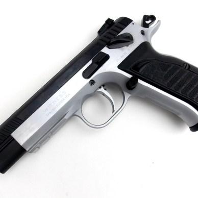 European American Armory Witness Elite Match pistol profile left