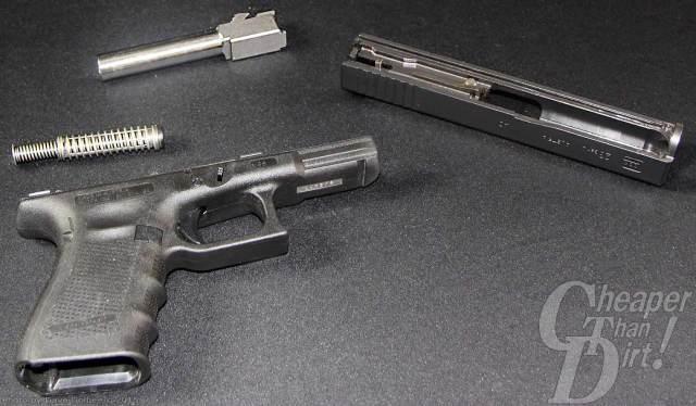 Glock 23 field stripped