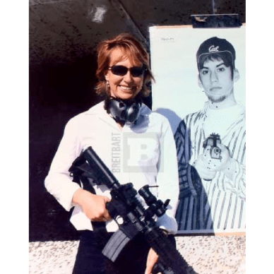 Gabrielle Giffords with Ar-15 in hand