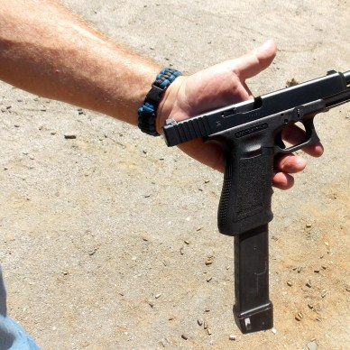 Glock 35 with extended magazine